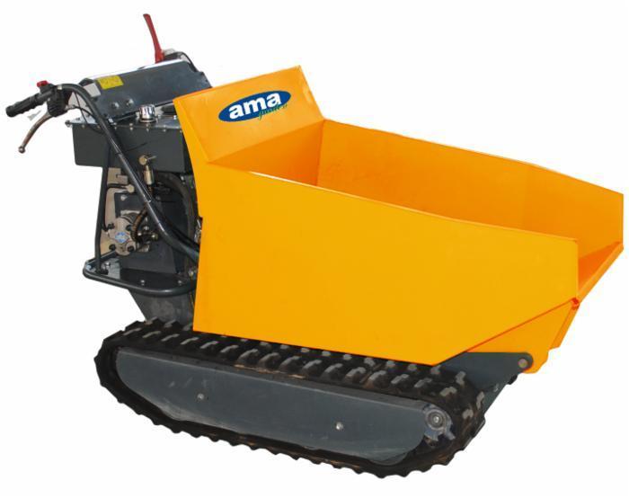 Motocarriola cingolata AMA - TAG500ND cassone dumper portata 500 kg transporter