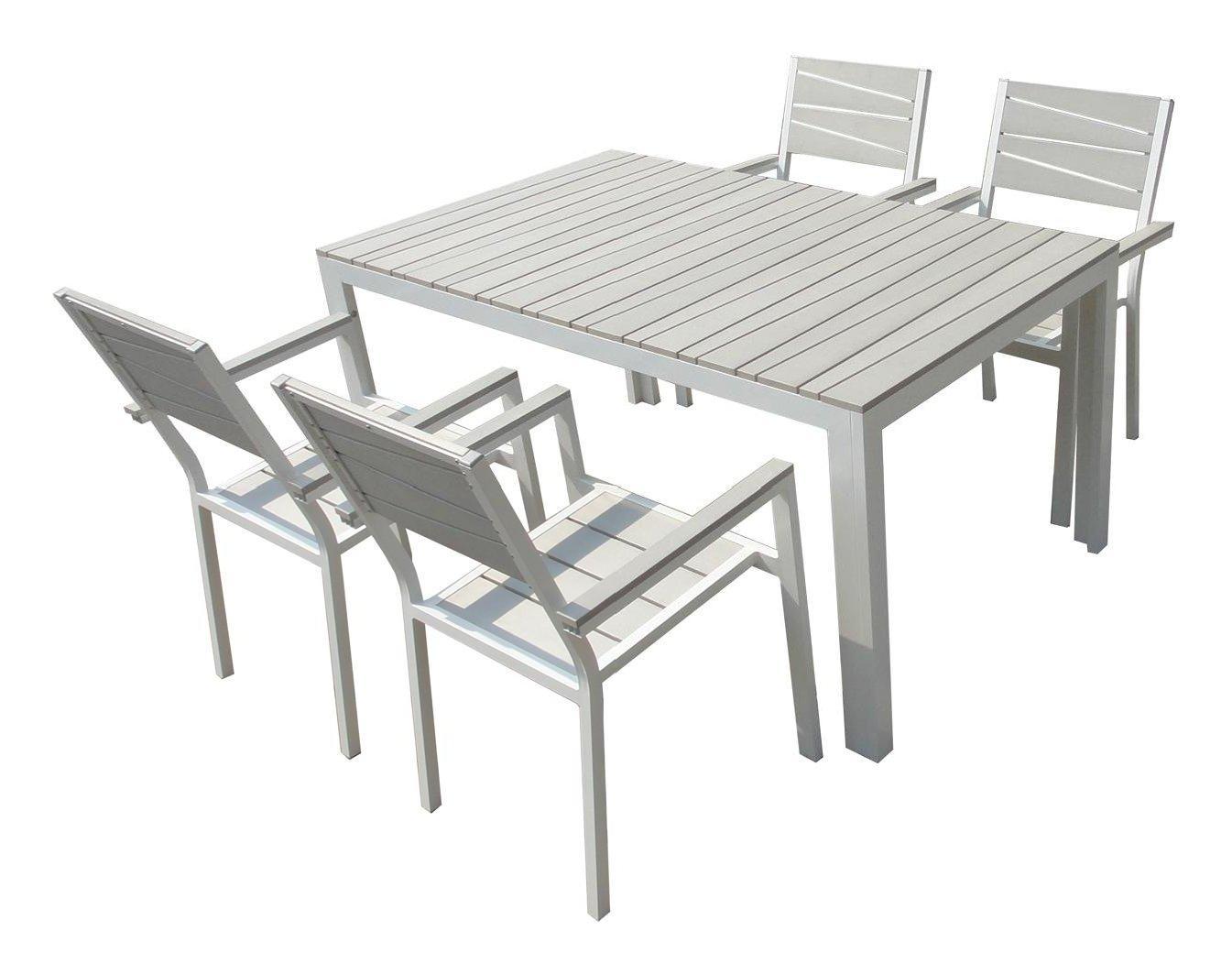 Tavoli Da Esterno In Alluminio.Prodotto Modello Set Ibiza Descrizione Generale Tavolo Bianco Grigio