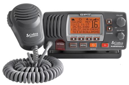 VHF Cobra Marine MR F77 GPS E Nero Grigio - Offerta di Mondo Nautica 24