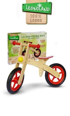 Bicicletta Bici pedagogica in legno senza pedali ruota libera LEGNOLAND MONDO 35483