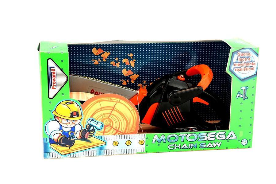 Motosega per bambini giocattolo 34 cm con suoni e movimento GLOBO MOTOSEGA 36929