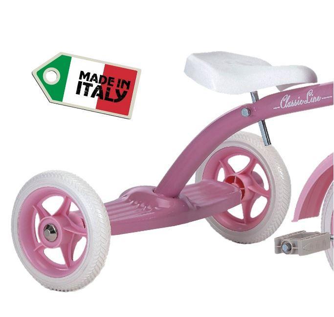 "Triciclo per Bambini ""Super Lucy Pink"" di Italtrike - Made in Italy"