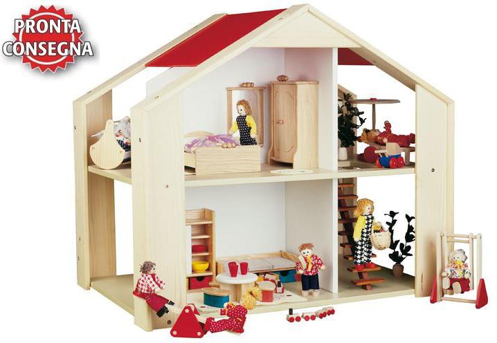 Casa bambole casa delle bambole casa gioco bambole - Casa delle bambole in legno ikea ...