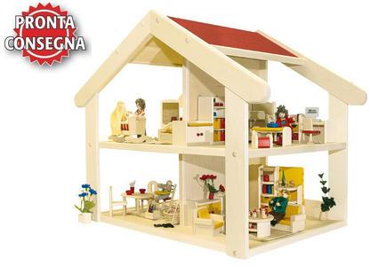 """Casa delle Bambole in Legno """"Filius"""" di Rulke Holzspielzeug"""