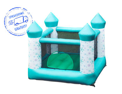 Jumpking® Castello gonfiabile - Snowflakes House 2 misure