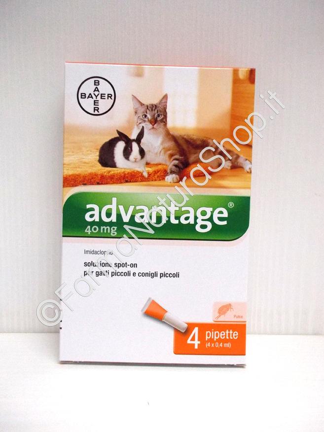 ADVANTAGE 40 mg per gatti inferiori ai 4 kg