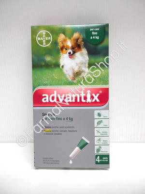 ADVANTIX Spot-On per cani fino ai 4 kg.