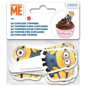 Set 24 toppesr per cupcakes Minions