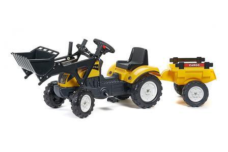 Trattore FALK  Trattore a pedali per bambini con benna e carretto giallo 07228