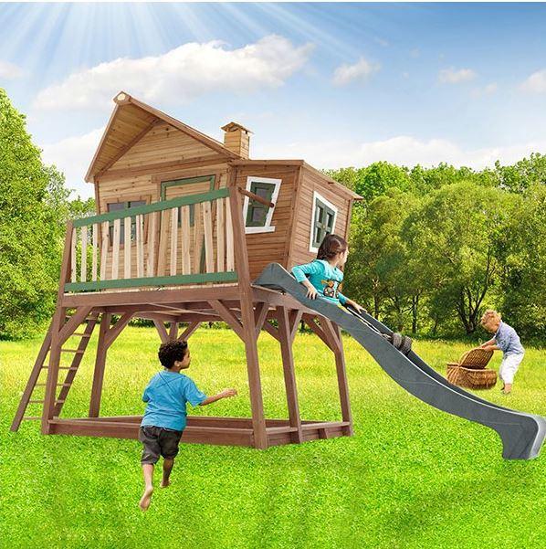 Casetta legno casetta bambini casetta con scala axi max - Casa di legno per bambini ...