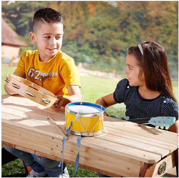 Tavolo da Picnic Bambini con Gioco Acqua e Sabbia Compreso Ombrellone di Axi