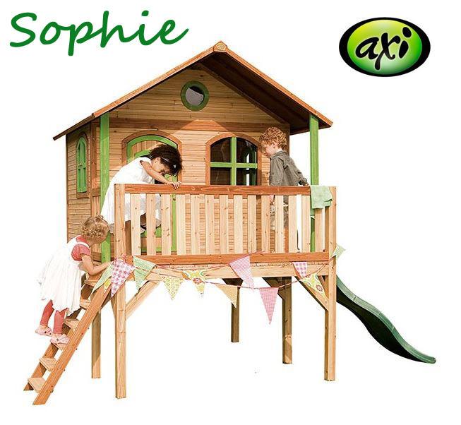"""Casetta per Bambini in Legno di Cedro """"Sophie"""" con Scala e Scivolo di AXI"""