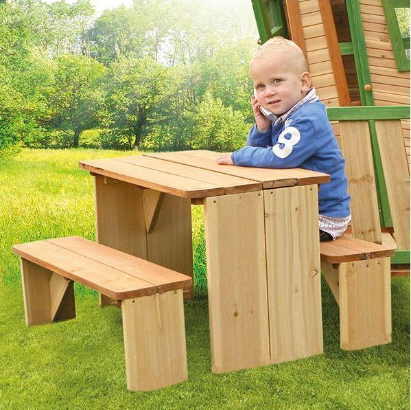 Tavolo da Picnic XL per Bambini con Panche ZicZed di Axi