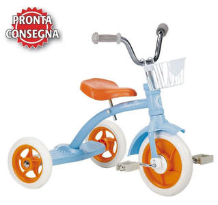 "Triciclo per Bambini ""Super Lucy Light Blue"" di Italtrike - Made in Italy"