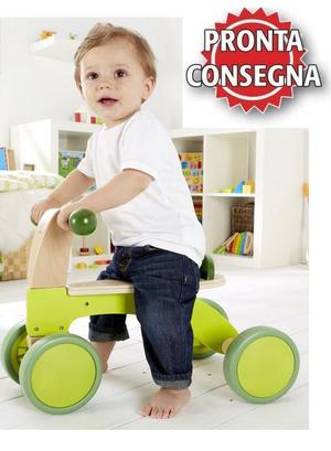 """Triciclo """"Scooter"""" Verde per Bambini in Legno Naturale Hape - Offerta"""