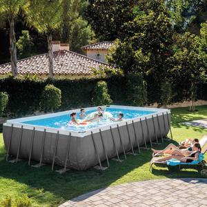 Piscina INTEX 26362 PLUS ultraframe rettangolare misura 732 x 366 x 132 cm con pompa sabbia 26362 modello NUOVO EX 28362