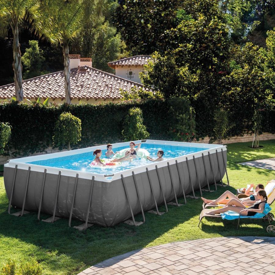 Piscina INTEX 26362 ultraframe rettangolare misura 732 x 366 x 132 cm con pompa sabbia 26362 modello NUOVO EX 28362