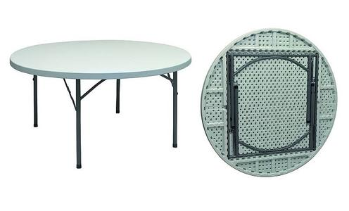 Tavolo rotondo gambe pieghevoli PIANO FISSO per catering diam 150 pieghevole per catering e feste
