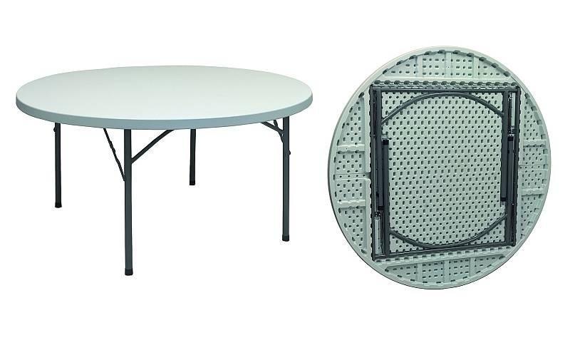 Tavolo rotondo pieghevole per catering diam 150 pieghevole for Gambe pieghevoli per tavoli fai da te