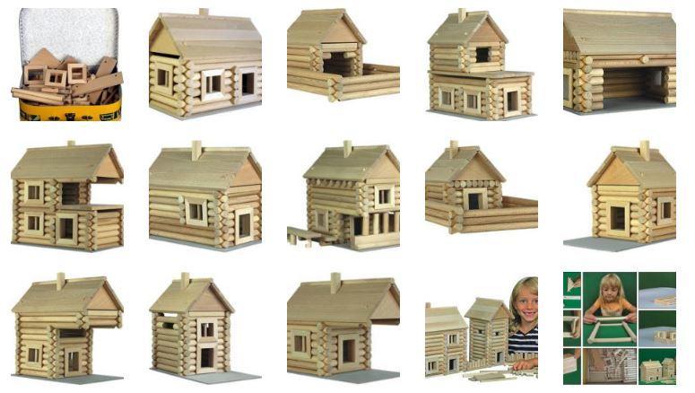 Costruzioni in Legno Naturale per Bambini Kit in Valigetta da 91 pezzi Walachia - Offerta