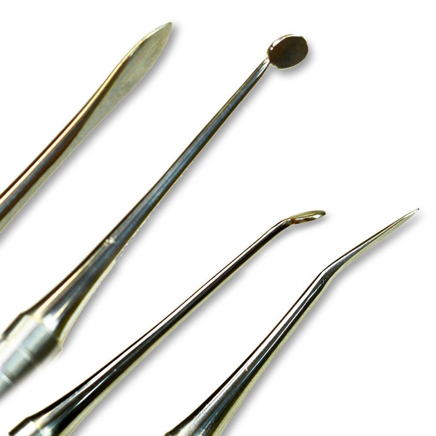 set strumenti per modellare in acciaio inox professionali