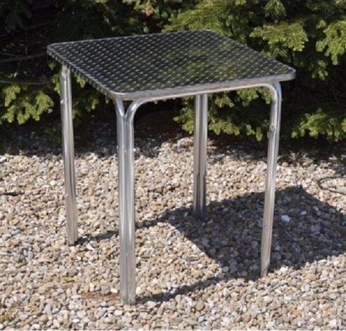 Tavolo in alluminio quadro mof. happy hour papillon 60x60x70hcm impilabile