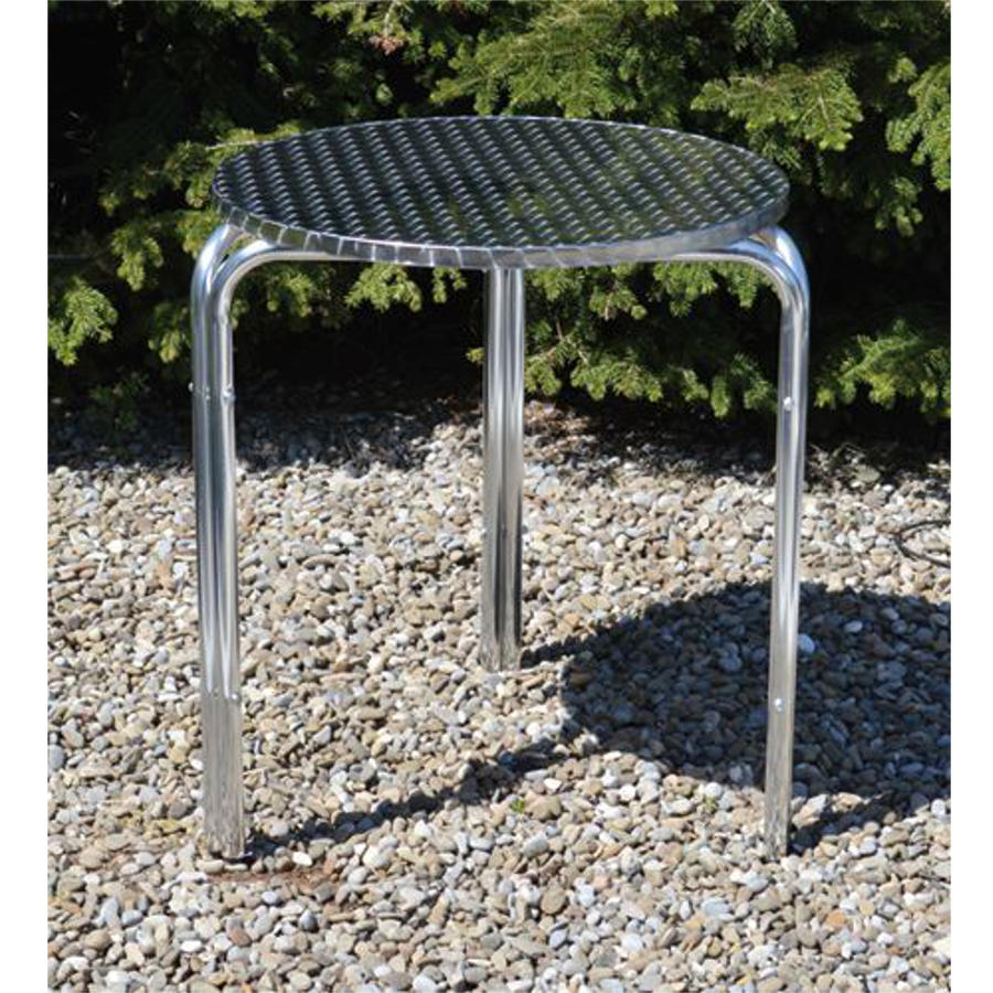 Tavolo Tondo Alluminio Impilabile Cm 60X70 H Giardinaggio Arredo Giardino 94979