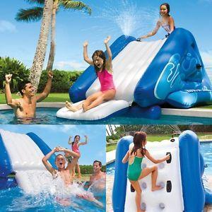 INTEX SCIVOLO per piscina con scivolo bambini gonfiabili CASTELLI GONFIABILI isola Da Bagno
