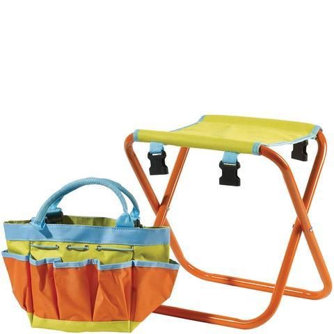 Briers® Kids Tool Bag Folding Seat - Set utensili con seggiolino