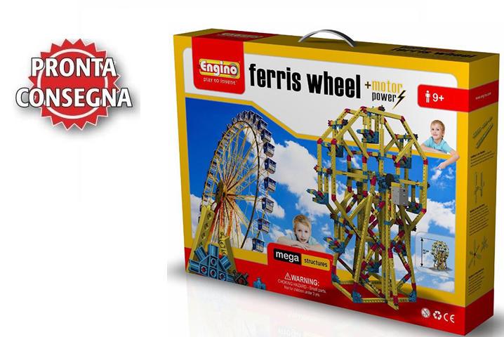"Set Costruzioni da 890 pezzi Mega Structures ""Ferris Wheel"" Ruota Panoramica di Engino"