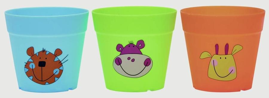 Briers® Kids plastic pots - Set 3 Vasi in plastica