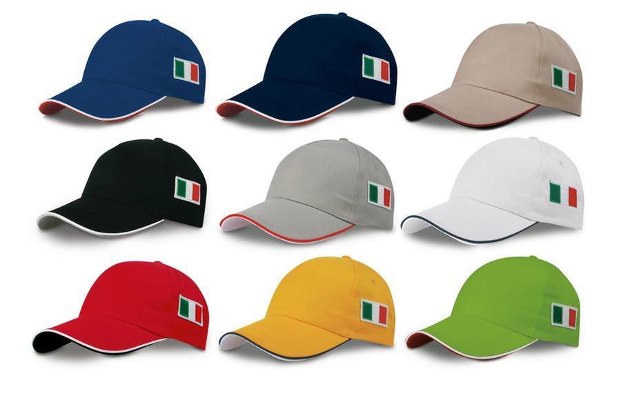Cappello Golf Bandiera Italia Personalizzato PK18144 da 50 pz