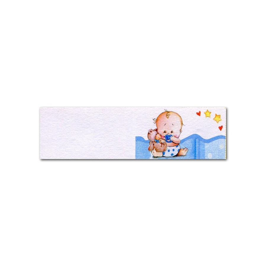 Set 5 biglietti bomboniera battesimo bimbo personalizzato