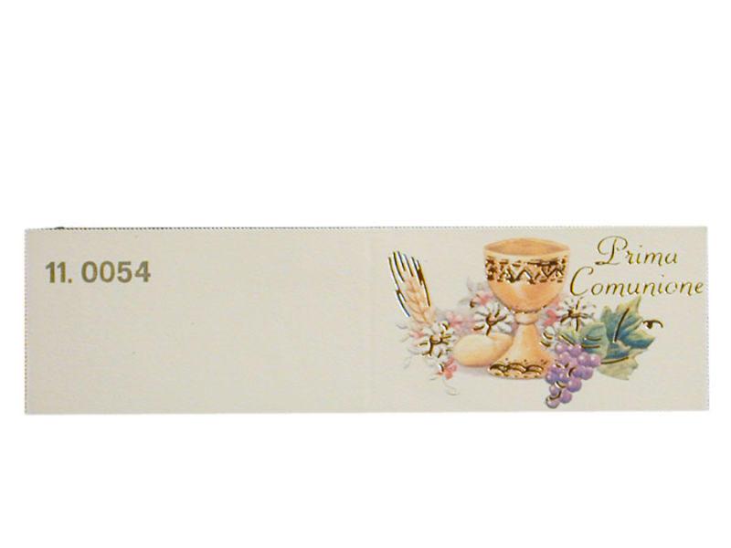 Set 5 biglietti bomboniera comunione personalizzato