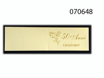 Set 5 biglietti bomboniera nozze oro personalizzato