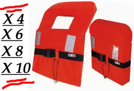 Giubbotto Salvagente 100N entro 6 MG. Pack da 4 - 6 - 8 - 10 Pezzi- Offerta di Mondo Nautica 24