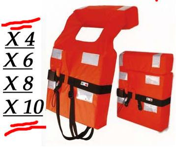 Giubbotto Salvagente 150N oltre 6 MG. Pack da 4 - 6 - 8 - 10 - 12 - 14 Pezzi - Offerta di Mondo Nautica 24
