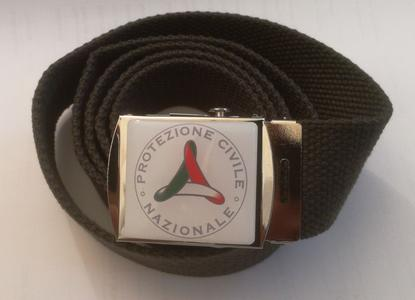 Cintura Protezione Civile grigia