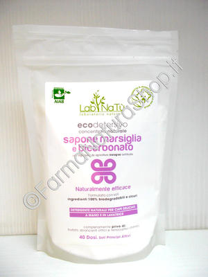 LAB.NATU' Sapone di Marsiglia e Bicarbonato - Ecodetersivo
