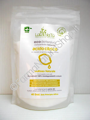 LAB.NATU' Acido Citrico - Ecodetersivo Multiuso Concentrato Naturale