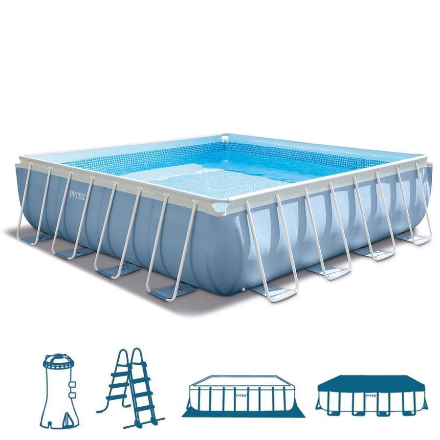 La piscina fuori terra quadrata intex 28766 della linea - Del taglia piscine opinioni ...