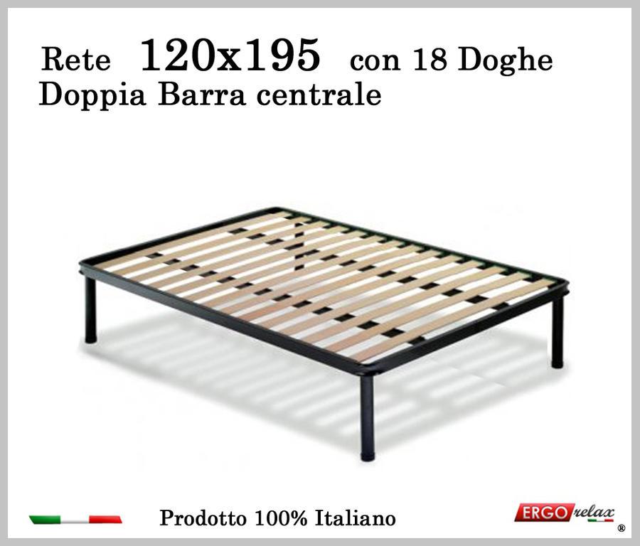 Rete per materasso a 18 doghe in faggio Con Doppia Barra Centrale 120x195 cm. 100% Made in  Itay