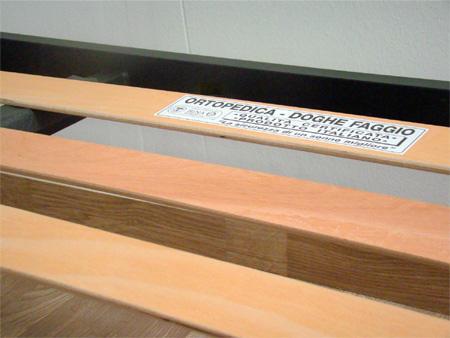 Rete per materasso a 18 doghe in faggio Con Doppia Barra Centrale 120x200 cm. 100% Made in  Itay