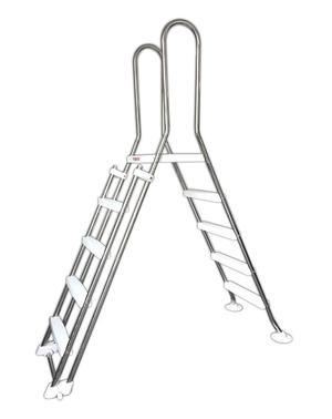Scaletta Blocco Sicurezza Safe Inox 4 Scalini + 4 Estraibili Piscine Max 1.35 mt