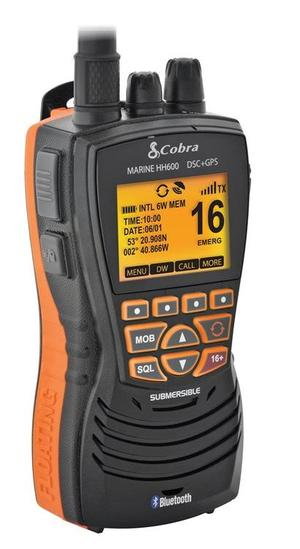 Radio VHF Portatile Galleggiante COBRA MARINE HH600 GPS BT EU Nero- Offerta di Mondo Nautica 24