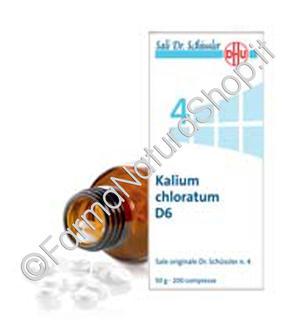 SALE DI SCHÜSSLER N.4 Kalium Chloratum D6 DHU