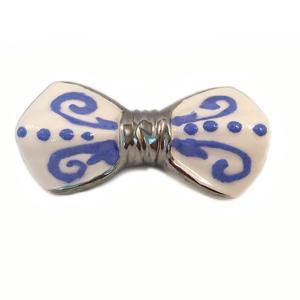 papillon ceramica deco blu