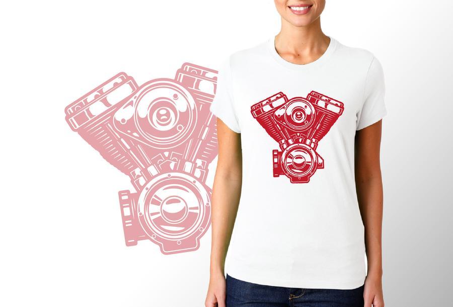 T-shirt motore Harley/Donna
