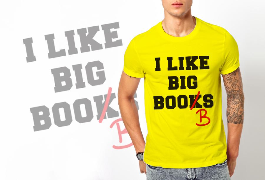 T-shirt I like Books/Uomo