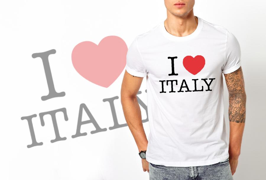 T-shirt I love Italy/Uomo